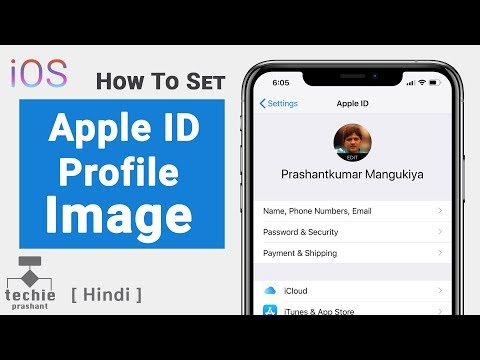 Set Apple ID Profile Image - iPhone, iPad, iOS 12, iOS 11 | Techie Prashant | HINDI
