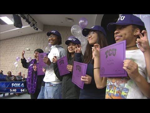 Arlington students surprised with full ride scholarships to TCU