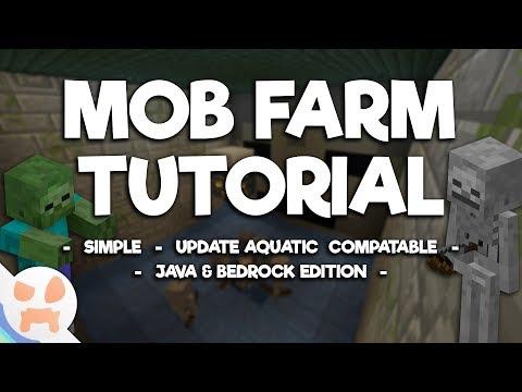 1.13 MOB FARM TUTORIAL | Zombies and Skeletons , Easy , Java & Bedrock