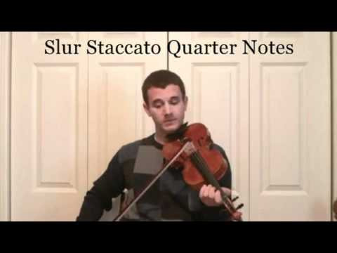 Violin Lessons With Slur Staccato - Learn Violin Articulation