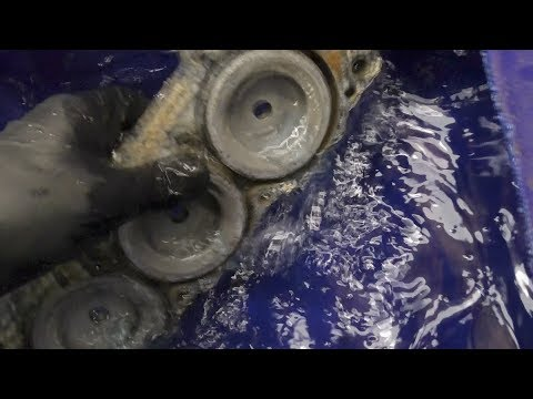 Cleaning outboard water passages