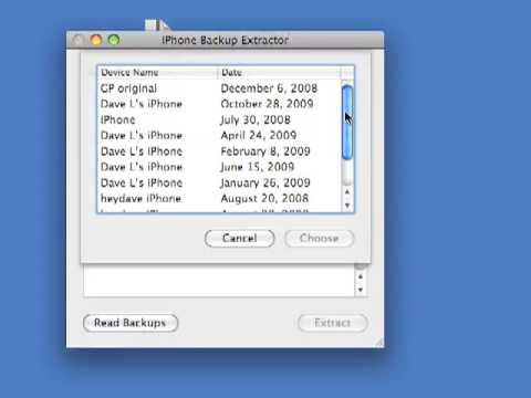 How to access iTunes backup Using a MAC
