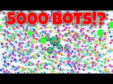 Hacked Agar io!?! 5000 BOTS!!! Agario will never change