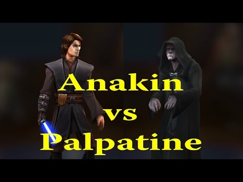 Star Wars: Galaxy Of Heroes - Emperor Palpatine VS Jedi Knight Anakin