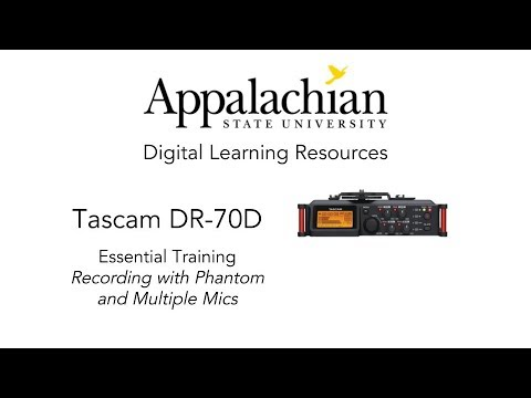 Tascam DR-70D Record with Phantom