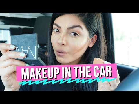 GRWM GET READY WITH ME: NATURAL GLAM MAKEUP IN THE CAR TUTORIAL | SCCASTANEDA