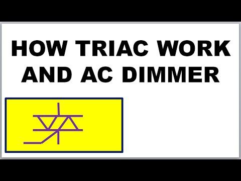 Triac, How Triac works in Dimmer, Motor Speed control