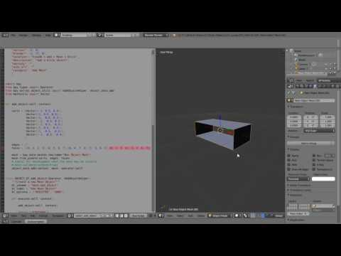 Create a New Mesh Object Using Python Code and Add It to the Mesh Menu, A Blender Scripting Tutorial