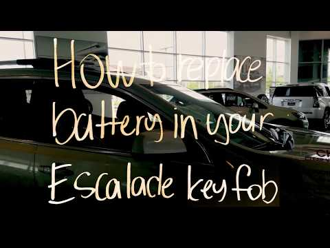 How To Change The Battery in Cadillac Escalde Key Fob