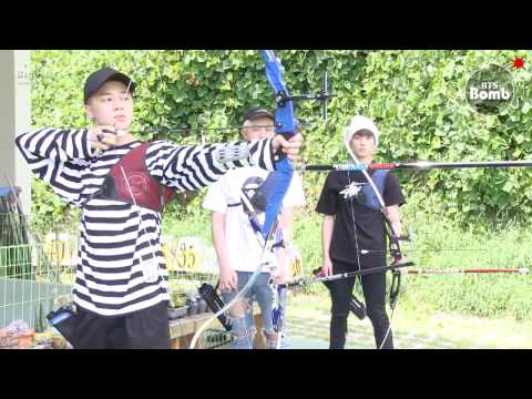 [ENG SUB] [BANGTAN BOMB] Practicing Archery for 2016 ISAC