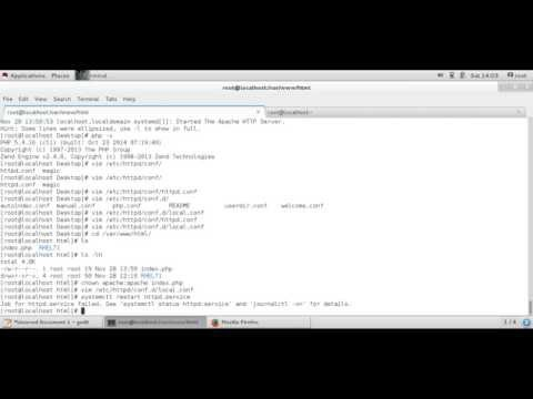 How to Install  apache, PHP  and MySQL  in RHEL 7.1