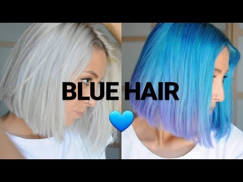 How to: DYE YOUR HAIR BLUE - blue and purple ombre hair