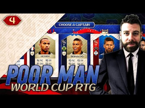 EASY WAY TO MAKE LOTS OF COINS IN THE WORLD CUP MODE! - POOR MAN WORLD CUP RTG #4 - FIFA 18