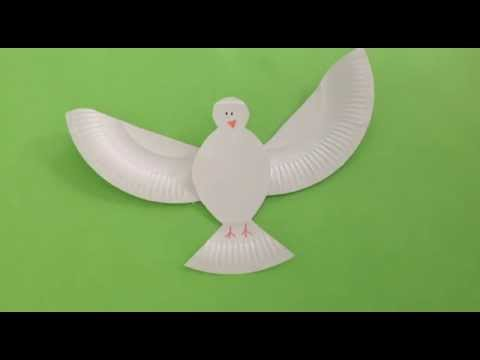How to make a paper plate dove