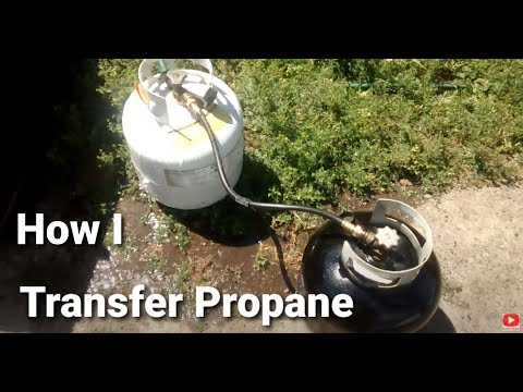 How to transfer propane from one bottle to another