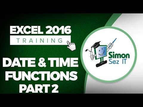 How to Use Date and Time Functions in Microsoft Excel 2016