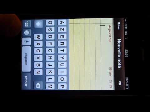 Comment activer les émoticones sur iphone ou ipod touch