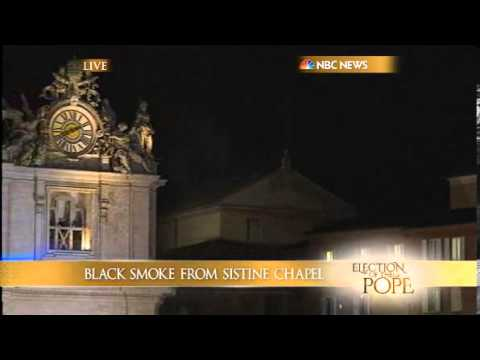 Black smoke from Sistine Chapel; NO decision on pope | Pope ELECTION