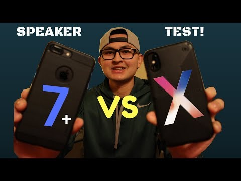 iPhone X vs iPhone 7 Plus Speaker Test! - Which is Louder?