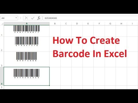 How to create barcode in Excel by simple way