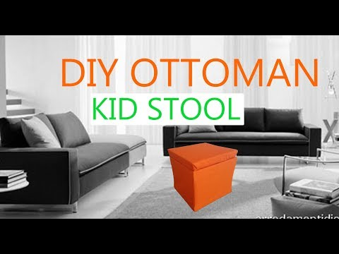 DIY ottoman cube stool for under $15 and less than an hour