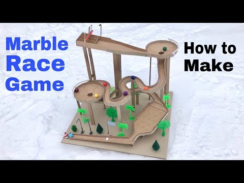 How to Make Amazing Marble Run Machine From Cardboard (Marble Race)