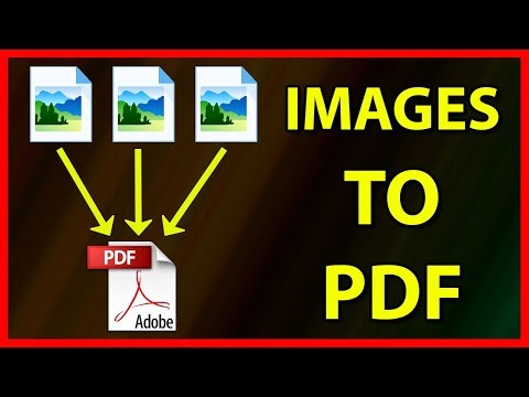 How to convert multiple images to one PDF file - Tutorial