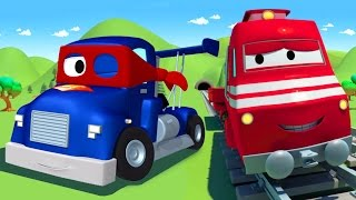 Download Troy The Train and Carl the Super Truck in Car City 🚆🚛 Cars & Trucks Cartoons for Children