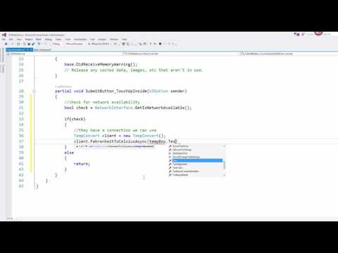 Xamarin iOS Lesson 6  - Consuming Web Services with WCF