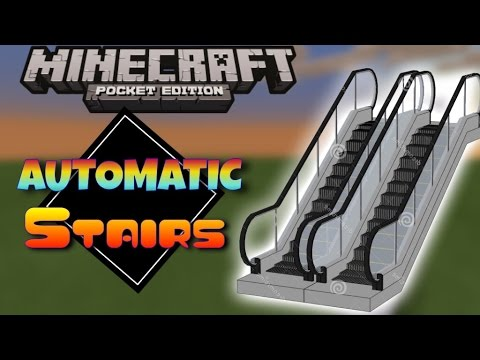 MCPE Automatic Stairs | Minecraft PE (Pocket Edition) 0.13.0 - 0.14.0