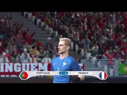 PES 2016 PORTUGAL Vs. FRANCE EURO 2016 Final Match