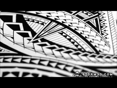 How to draw a Samoan tribal half-sleeve tattoo design