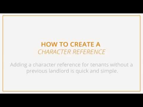 How to create a character reference
