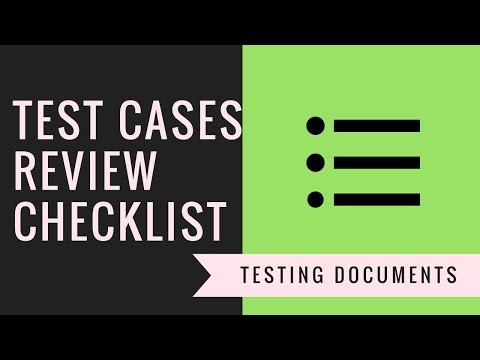 Testing Documentation | Test cases review checklist document