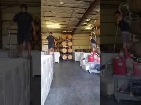 Punch downs at Easy st Wine Collective
