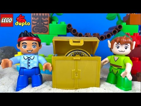 JAKE NEVERLAND PIRATES LEGO DUPLO PETER PAN'S VISIT WITH TICK-TOCK CROC TREASURE MAP & CHEST ID10526