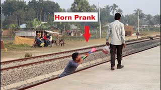 Train Horn Public Scary Prank Video 2021