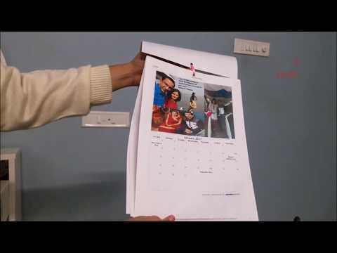 DIY Photo calendar new year personalised