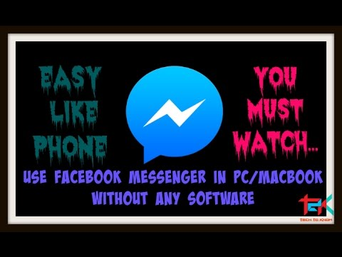 How to Use Facebook messenger in PC|MacBook without any Software