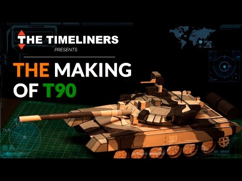 The Making Of T-90 Bhishma Tank (Paper Model) | The Timeliners