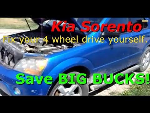 Kia Sorento front differential actuator pump replacement. Same as a Jeep Dana 44.