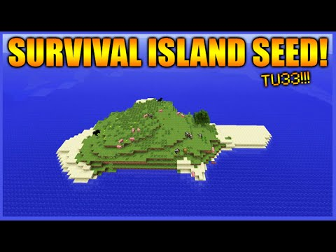 ★THE BEST SURVIVAL ISLAND SEED!! - Minecraft Xbox 360 + PS3 NEW TU33 Survival Island Seed!★