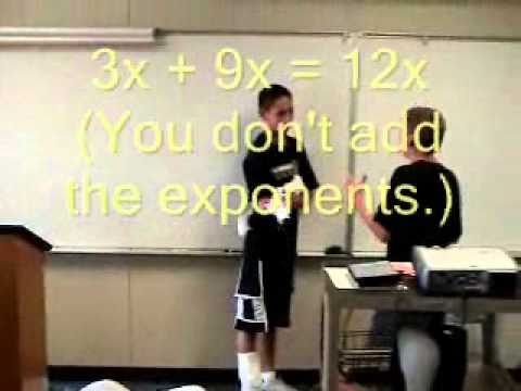 Algebra Man Student Projects - Collecting Like Terms Could Save Your Life