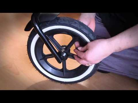 How to correctly inflate the tire of a phil&teds stroller / buggy