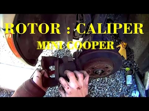 How to Remove Brake Caliper and Rotor + torque specs - MINI Cooper S