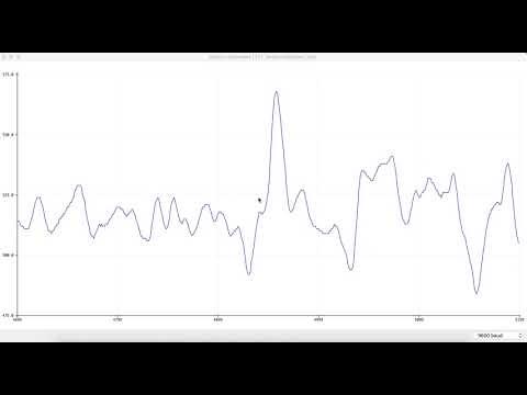 pulse sensor dog test run #1 - lower thigh
