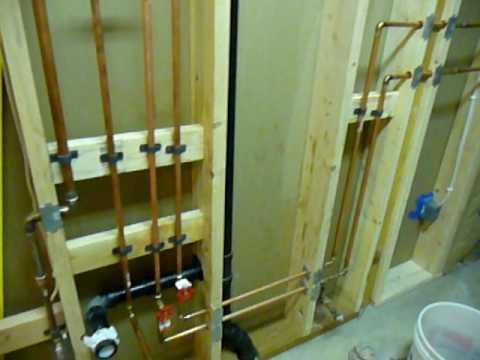 plumbing for shower stall