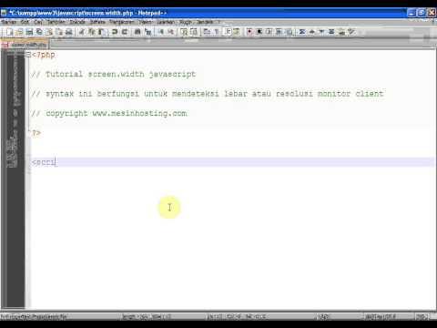 javascript: screen width - cara mendeteksi resolusi monitor dengan javascript