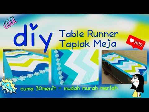 DIY TABLE RUNNER - Cara jahit Taplak Meja cuma 30menit