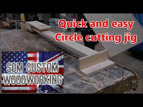 Quick and easy circle cutting jig